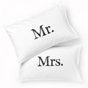 Mr Mrs Pillowcase Set