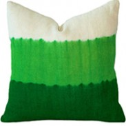 Dip Tie-Dye Emerald Cushion