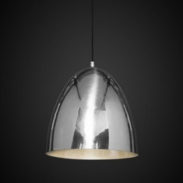 Egg Ceiling Pendant - Polished Silver