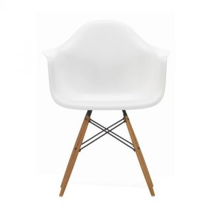 White Eames Cafe Arm Chairs