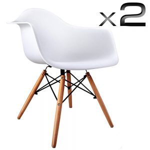 Beech White Eames Cafe Chairs