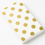small note pad gold 200x300