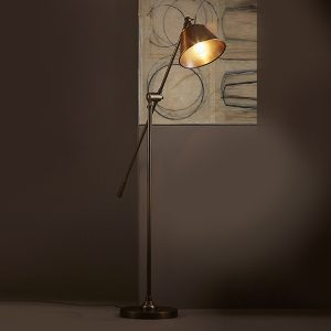 Antique Brass Winslow Floor Lamp