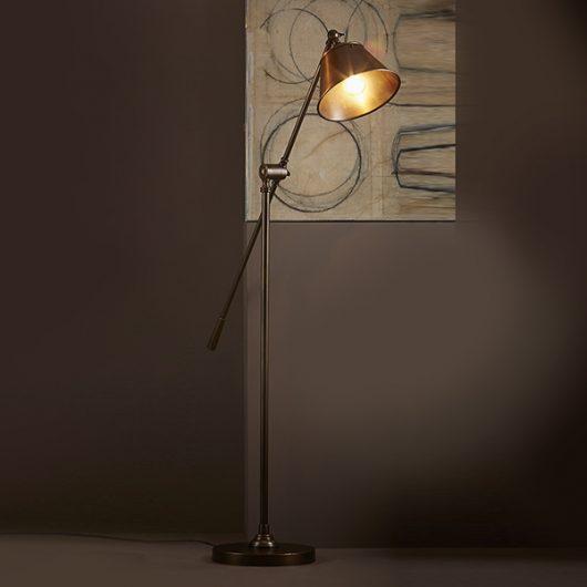 Antique Brass Winslow Floor Lamp