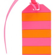 LUGGAGE TAG - pink orange 300x200