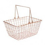 Copper Wire Shopping Basket