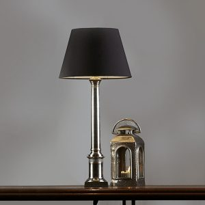 Wiltshire Antique Silver Table Lamp