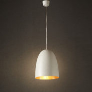 White Copper Egg Light