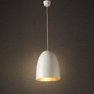 White Copper Egg Light