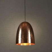 Beaten Copper Pendant Light