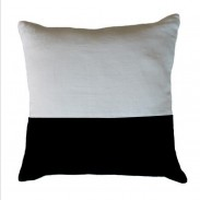 HESSIAN STRIPE BLACK CUSHION