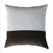 HESSIAN STRIPE MUD GREY CUSHION