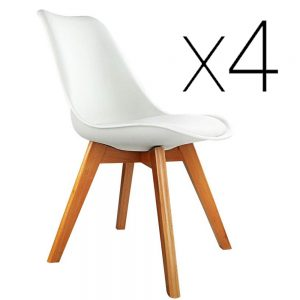White PU Leather Dining Chairs