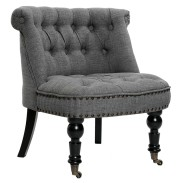 Grey French Provincial Chair