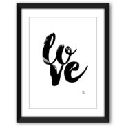 Love Typography Print A4