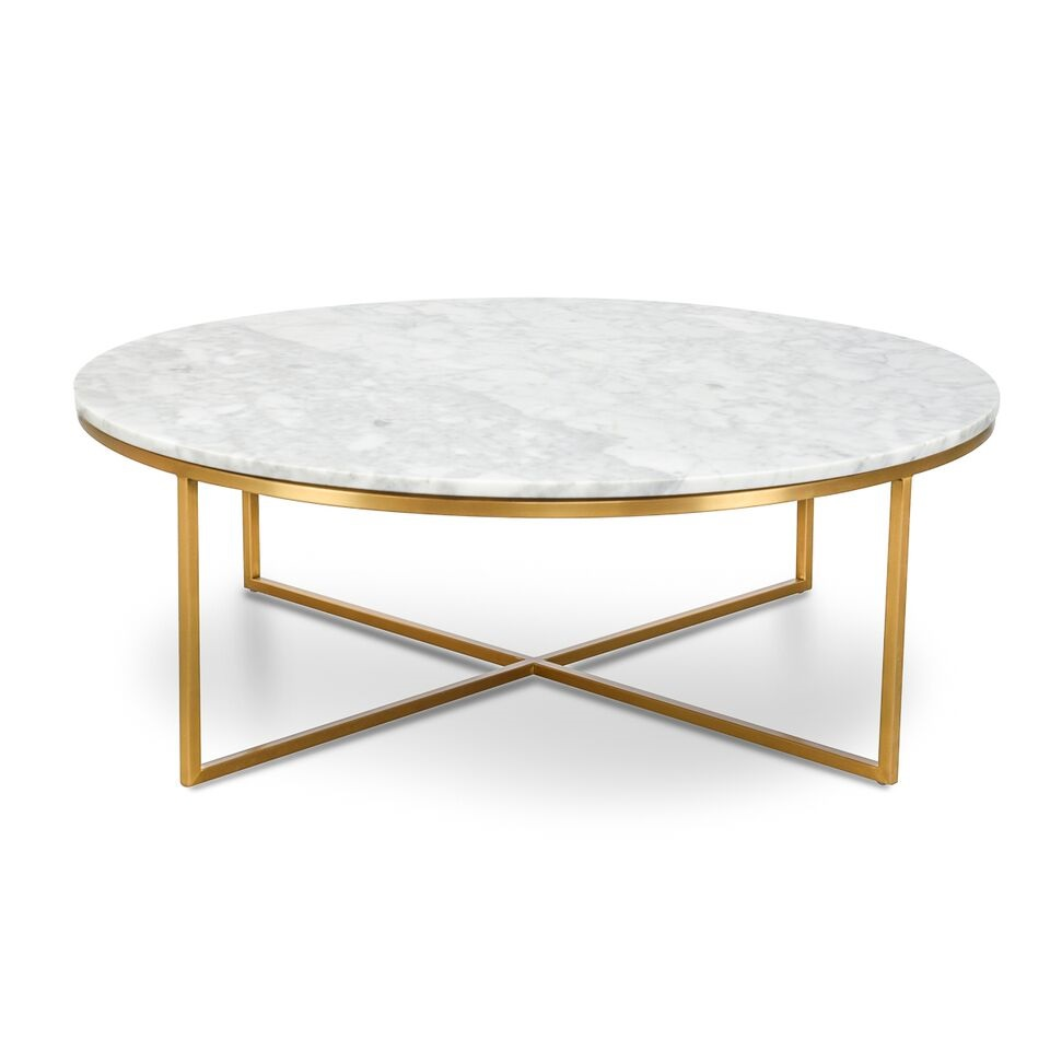 Round marble coffee table the gilded pear homewares zippay Granite coffee table