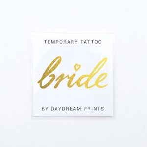 Single 'Bride' Gold Foil Tattoo