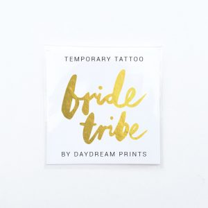 Single 'Bride Tribe' Gold Foil Tattoo