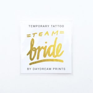 Single 'Team Bride' Gold Foil Tattoo