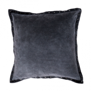 Rivet Velvet Steel Grey Cushion