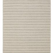 Scandinavian Striped Knit Grey Floor Rug