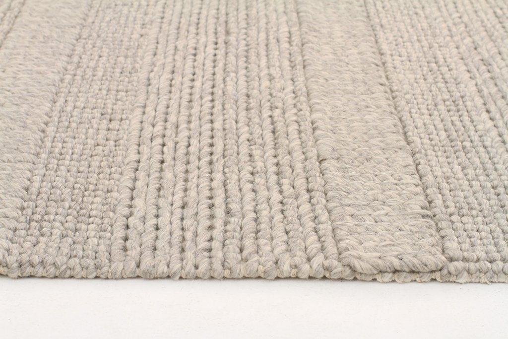 Scandinavian Grey Chunky Knit Floor Rug The Gilded Pear