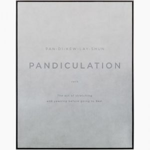 Pandiculation Leather Framed Art Print