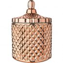 Large Copper Geometric Candle
