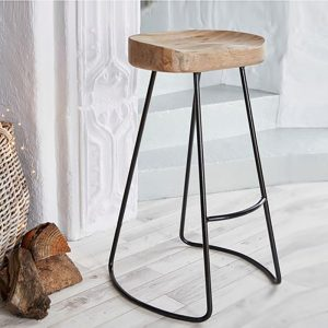 Natural Elm Tractor Bar Stools