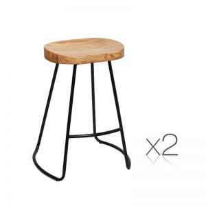 Natural Elm Tractor Bar Stools 65cm