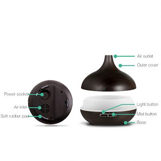 Ultrasonic Aroma Oil Diffuser Dark Wood