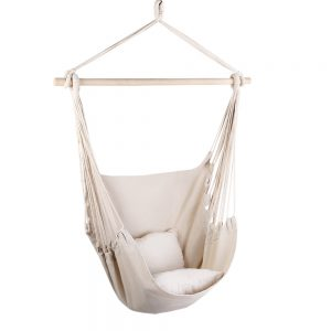 Cream Hammock Hanging Swing Chair