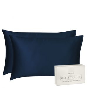 Indigo Blue Beautysilks Silk Pillowcases
