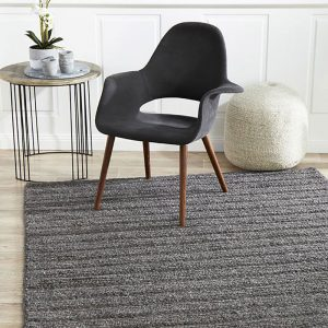 Harvest Charcoal Chunky Knit Floor Rug