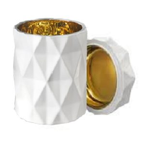 White + Gold Diamond Candle Jar