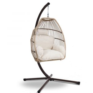 Rattan Wicker Hanging Egg Pod Chair