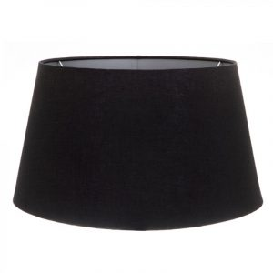 Black Linen Lamp Shade with Silver Lining