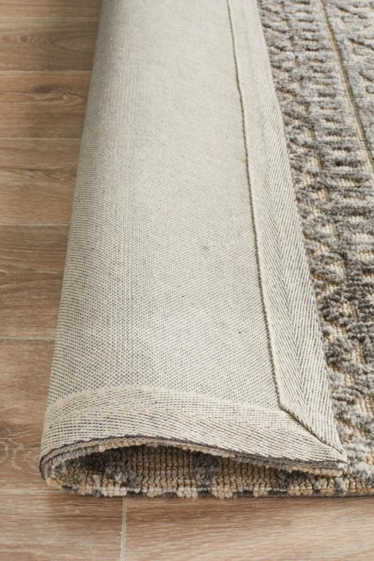 Levi Ivory & Natural Grey Textured Rug