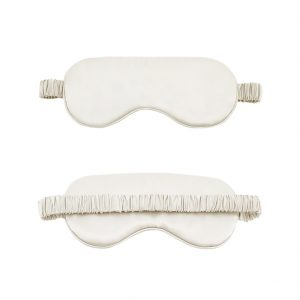 Ivory Silk Eye Mask